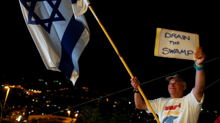 A Trump supporter during a convention organized by the Israeli branch of the U.S. Republican Party in Jerusalem on October 26, 2016