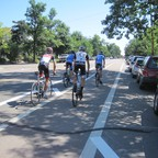 a photo of a bike lane in Boulder, Colorado.