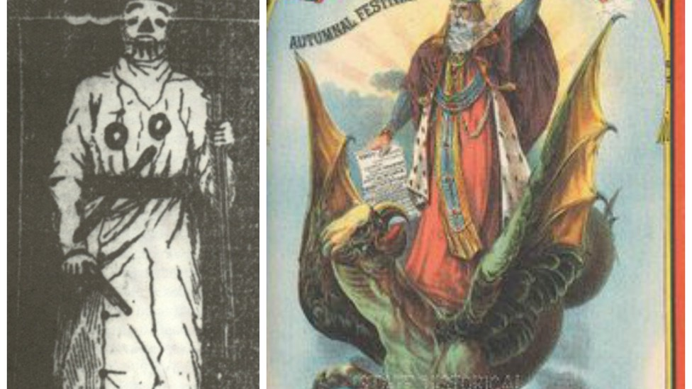 The original prophet image and a program from the 1883 VP Fair