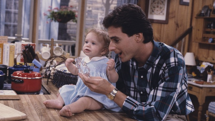 Danny Tanner from Full House with Michelle Tanner