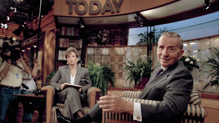 "Ross Perot and Katie Couric on the ""Today"" show"