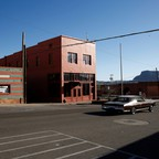 A photo of vacant storefronts in the historic mining town of Superior, Arizona.