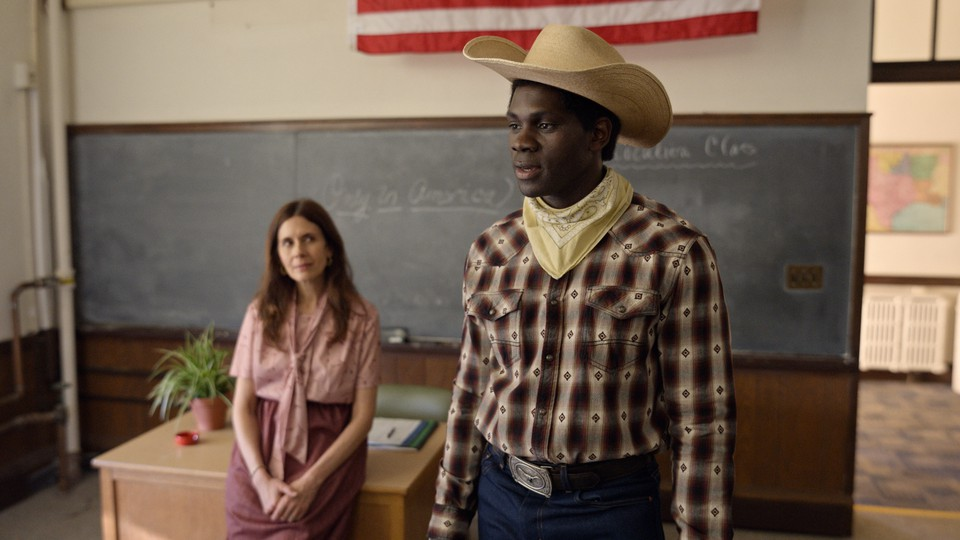 """The Nigerian actor Conphidance in an episode of """"Little America"""""""