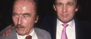 a photo of Fred and Donald Trump.