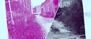 An illustration shows two alleys in Detroit.