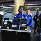 A TSA worker at Reagan National Airport.