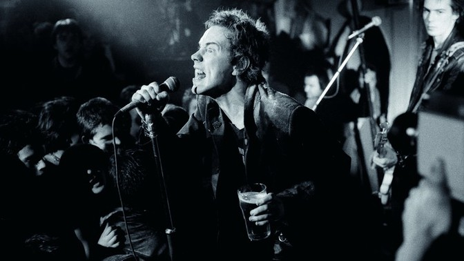 The Sex Pistols performing
