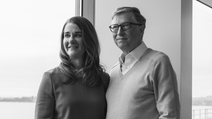 Bill and Melinda Gates stand together