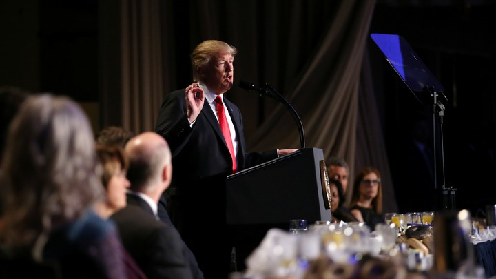 President Donald Trump at the National Prayer Breakfast