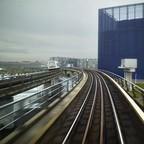 Subway tracks are pictured in Copenhagen.