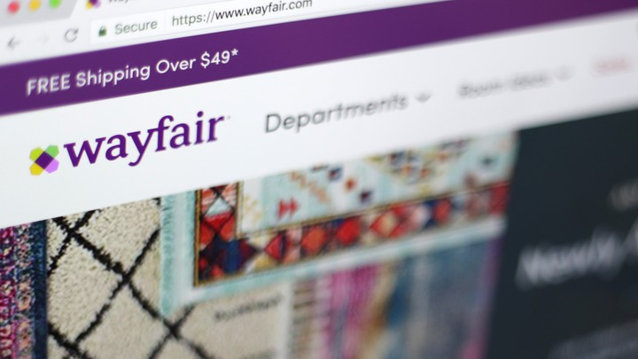 Wayfair's homepage