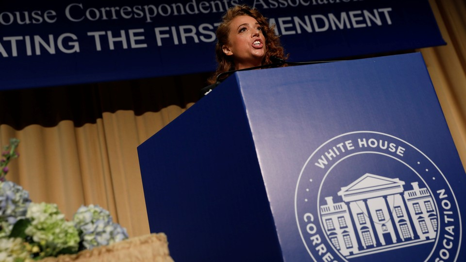 The comedian Michelle Wolf at the White House Correspondents' Association Dinner