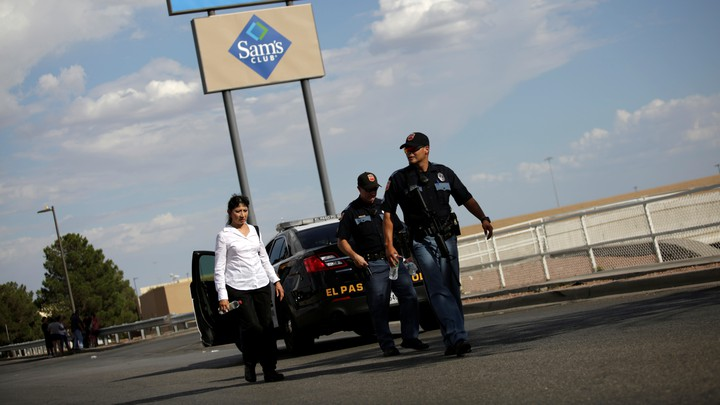 Police after a shooting in El Paso