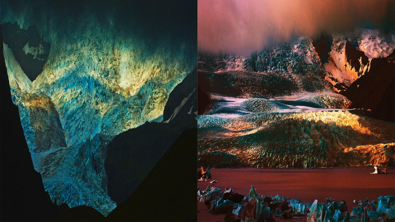 photo illustration of Iceland glaciers