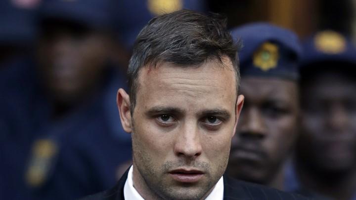 Oscar Pistorius outside the High Court in Pretoria, South Africa.