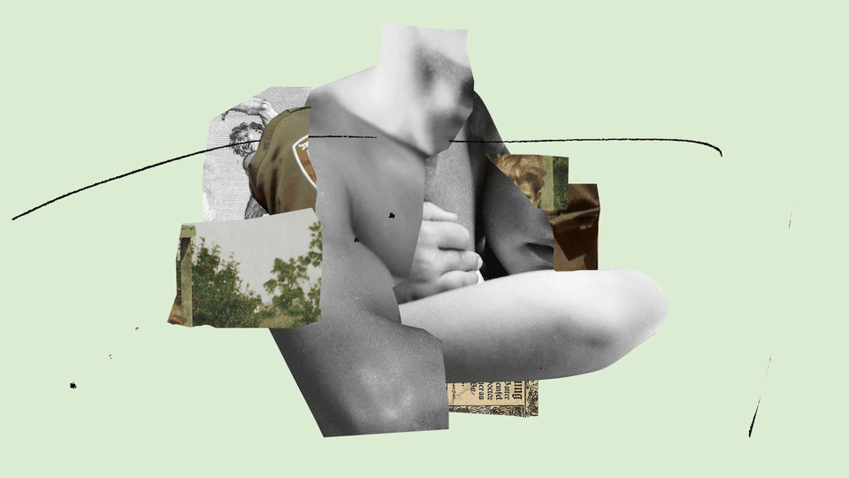 collage of body parts and military uniform