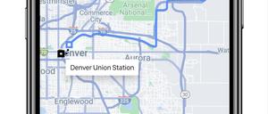 a screenshot of an Uber map