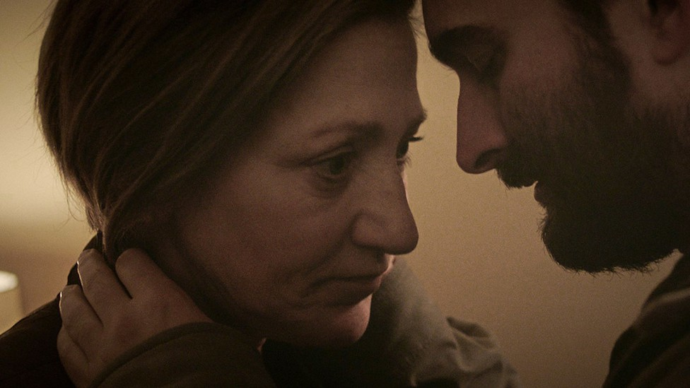 Edie Falco and Jay Duplass in 'Outside In'