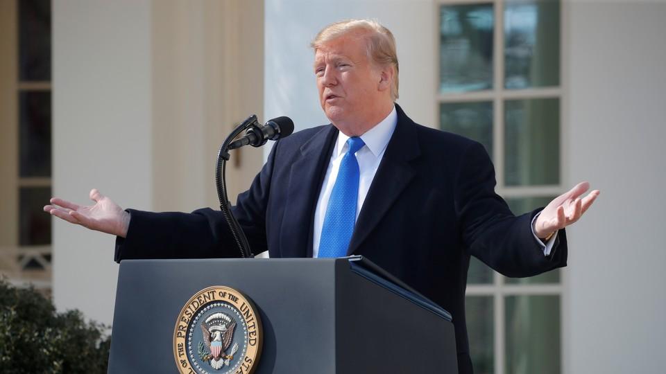 Donald Trump declares a national emergency
