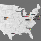 A map of environmental justice policies in the U.S.