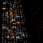 Traffic at night in California.