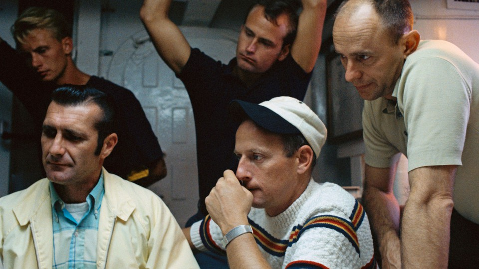 The Apollo 12 astronauts (from left) Dick Gordon, Pete Conrad, and Alan Bean