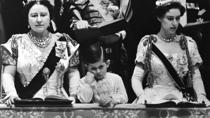 Prince Charles looking bored at the 1953 coronation of his mother, Queen Elizabeth II.