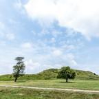 Monks Mound terraces, Cahokia Mounds State Historic Site, Illinois.