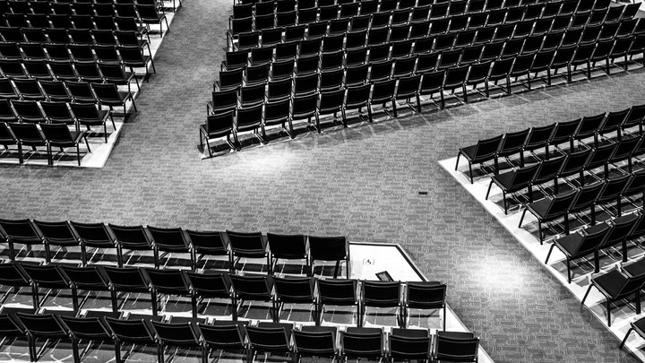 Chairs in the main sanctuary at North Point Community Church