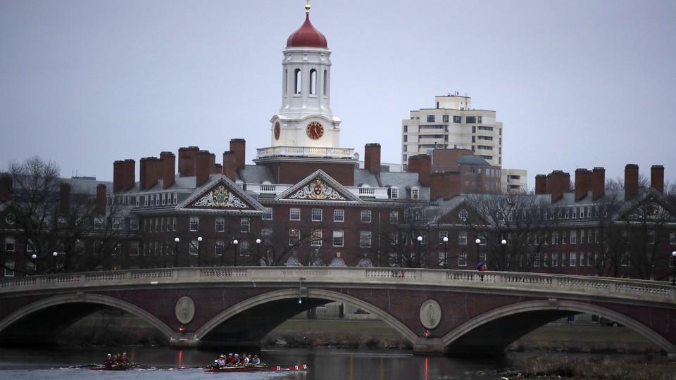 Harvard University's campus, in Cambridge, Massachusetts