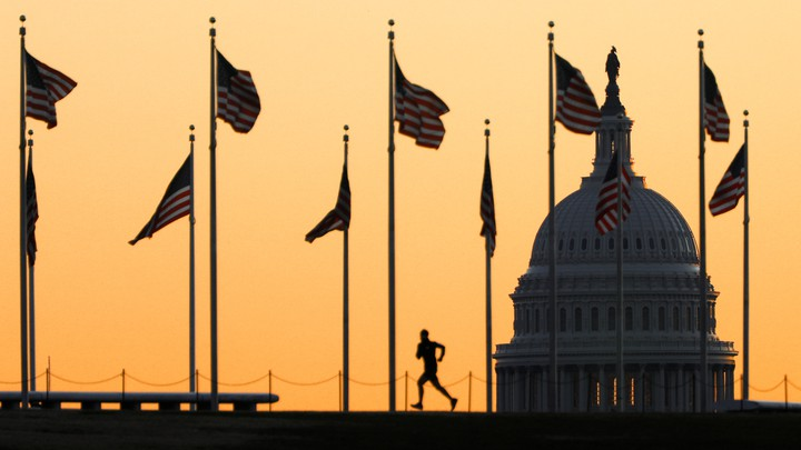 The Capitol Building at sunrise