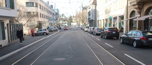 a photo of a street in Zürich, Switzerland.