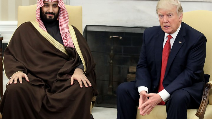 President Donald Trump meets with Mohammed bin Salman, Deputy Crown Prince and Minister of Defense of the Kingdom of Saudi Arabia at the White House on March 14, 2017.