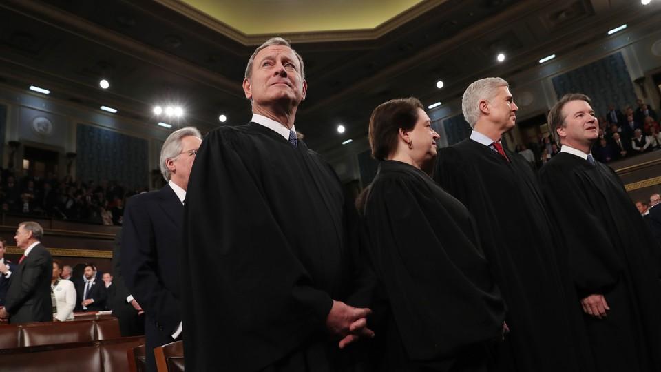 Justices John Roberts, Elena Kagan, Neil Gorsuch and Brett Kavanaugh