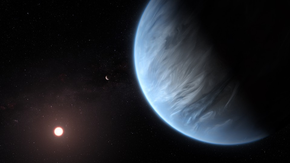An artist's impression of exoplanet K2-18b