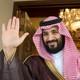 Mohammed bin Salman waves in Riyadh, Saudi Arabia.