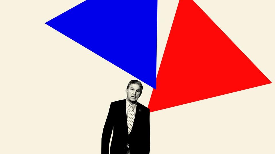 A photo illustration of Joe Manchin