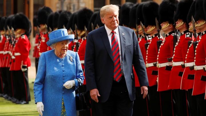 Trump meets Queen Elizabeth II at Windsor Castle in July 2018.