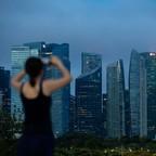 a photo of the Singapore skyline