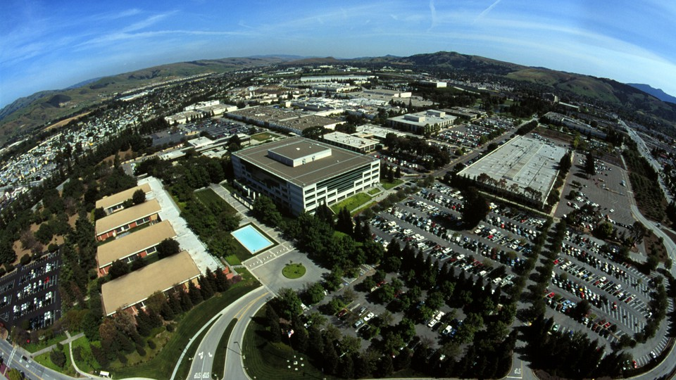 An aerial photograph of Silicon Valley