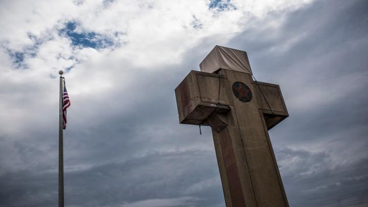 The World War I memorial cross in Bladensburg, Maryland