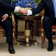 President Donald Trump shakes hands with Egypt's President Abdel Fattah al-Sisi before their meeting in Riyadh, Saudi Arabia, on May 21, 2017.