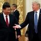Donald Trump and Xi Jinping meet in Beijing in 2017.