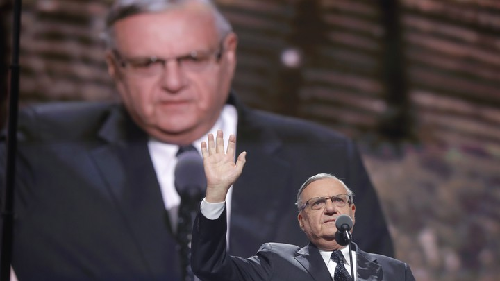 Arizona's Maricopa County Sheriff Joe Arpaio speaks at the Republican National Convention in July.