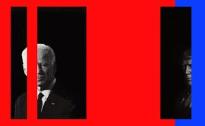Illustration of Biden and Trump