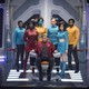 Jesse Plemons, Cristin Milioti, and others on the bridge of the USS Callister in 'Black Mirror'
