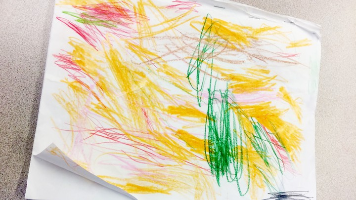 A child's drawing.