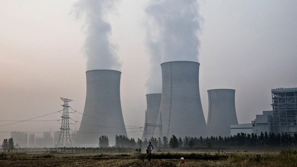A coal plant in China