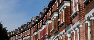 A row of homes in North London.