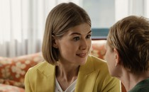 Con artist Marla Grayson, played by Rosamund Pike, in the film 'I Care A Lot'
